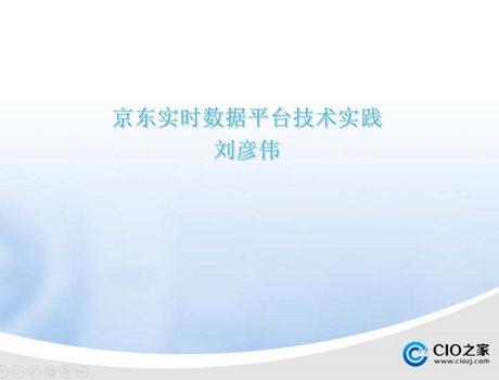刘彦伟-实时数据平台技术实践