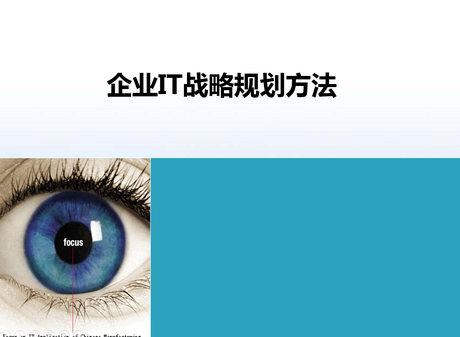张志-IT战略规划方法介绍