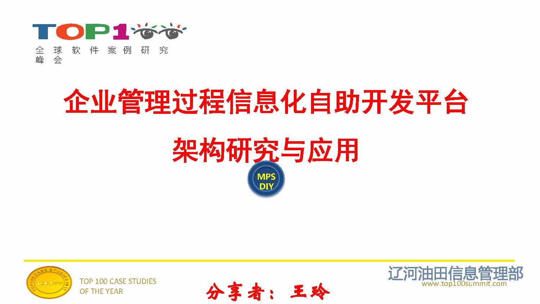 王玲-企业管理过程信息化自助开发