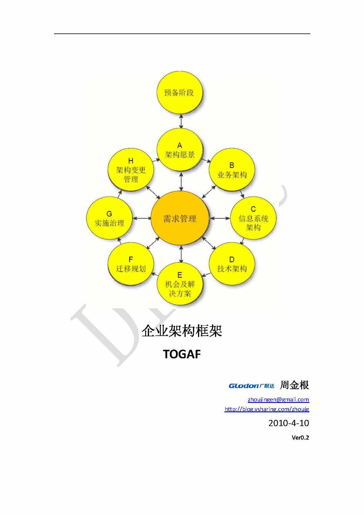 周金根-企业架构框架-TOGAF Draft