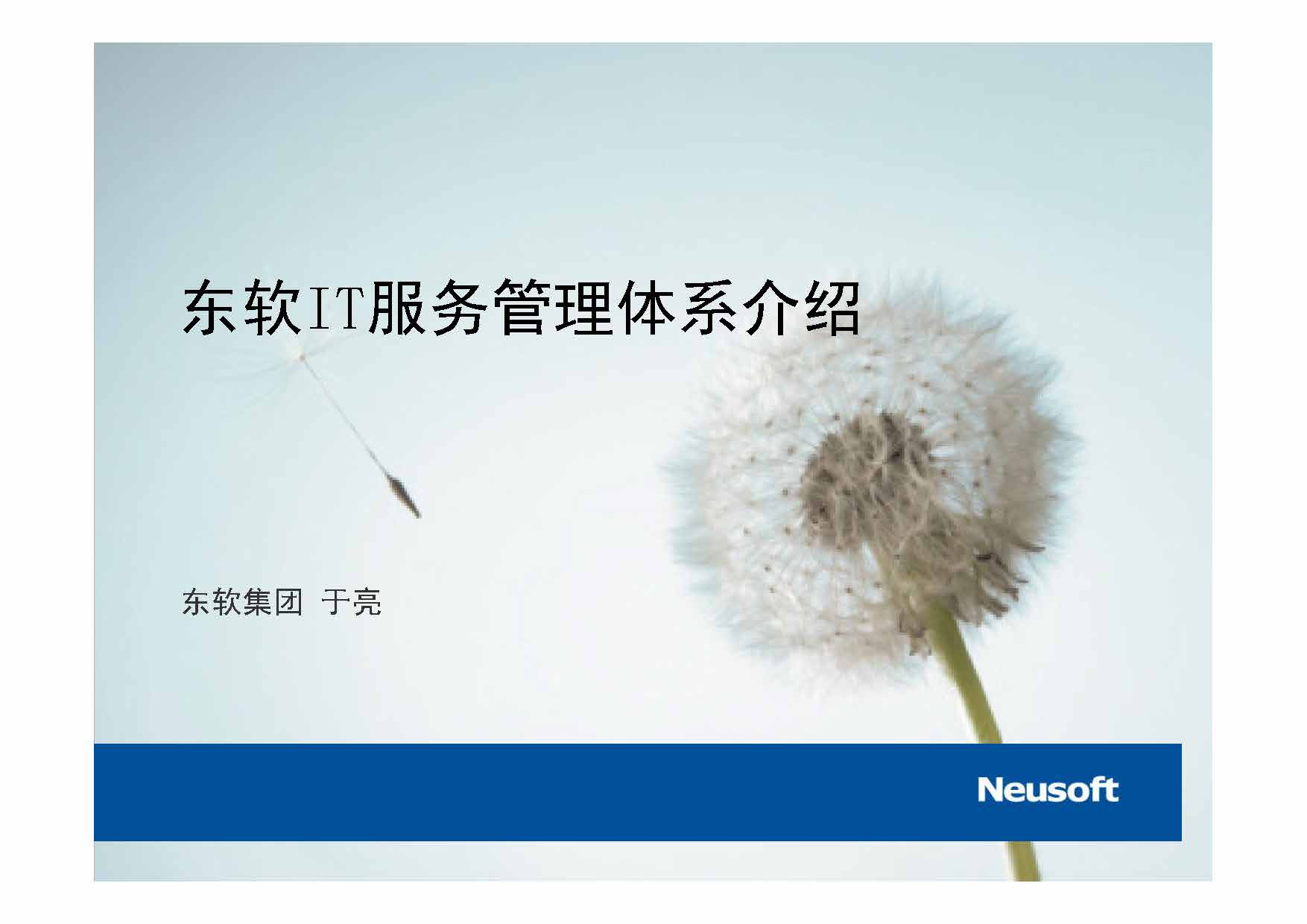 于亮-公司实战IT服务管理体系介绍