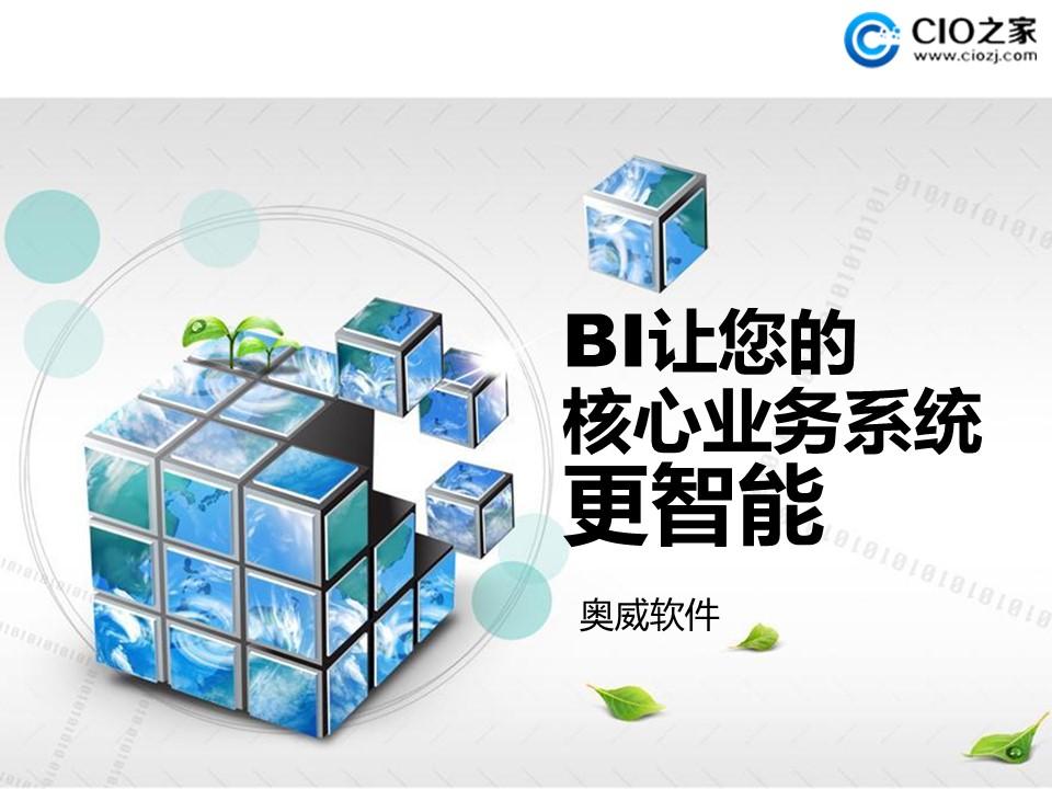 邹斌-BI让的你核心业务更智能