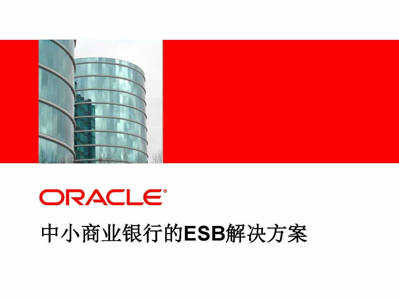 Oracle-中小商业银行的ESB解决方案