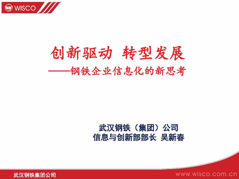 吴新春-钢铁企业信息化的新思考