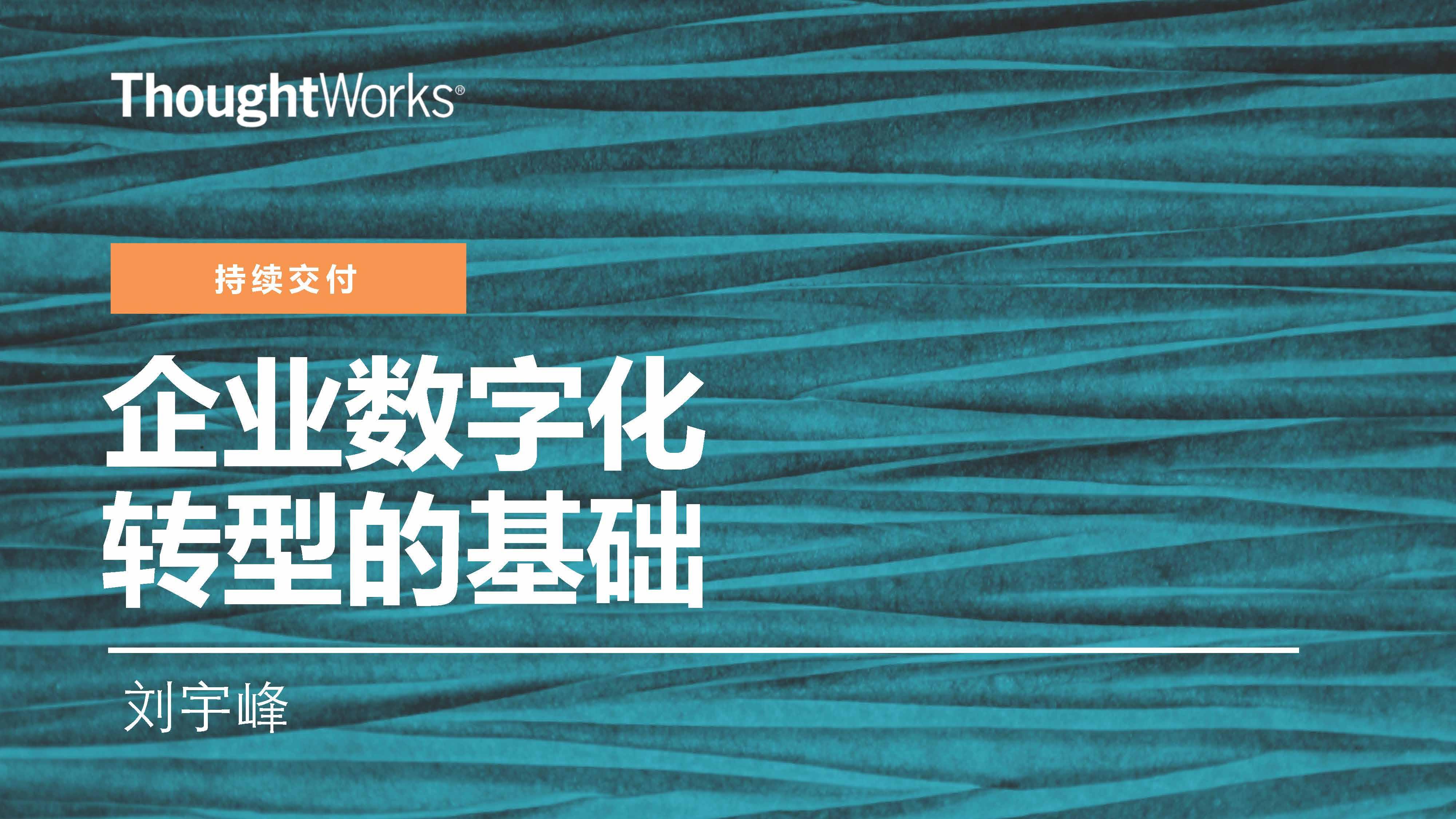 刘宇峰-数字化转型