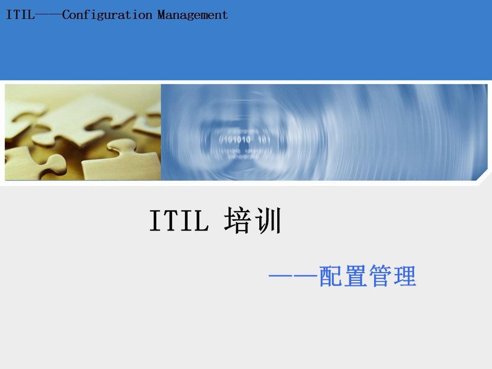 中国数码-ITIL配置管理