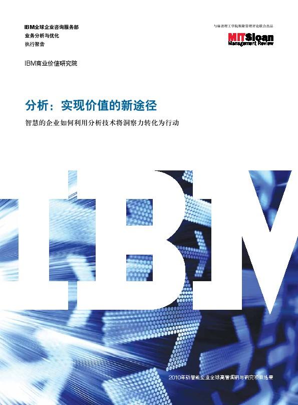 IBM-实现价值的新途径
