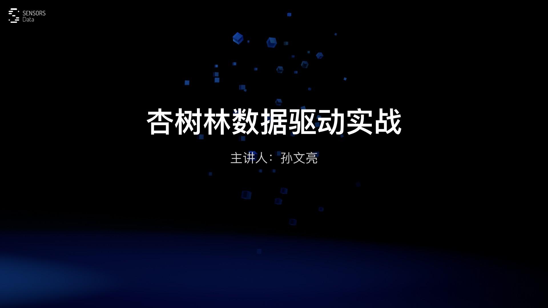孙文亮-杏树林 在线医疗数据驱动实战