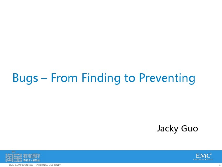 jacky-Bugs From Finding to Preventing