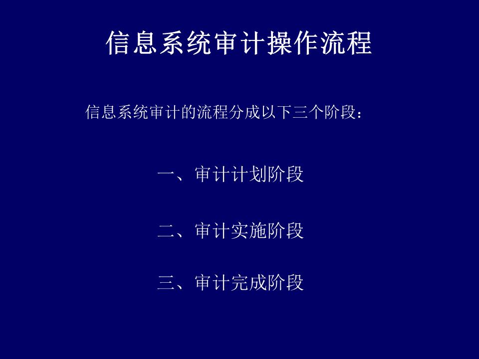 yuhang-信息系统审计的操作流程