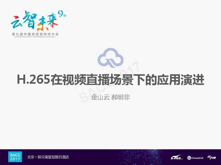 郝明非-H.265在视频直播场景下的应用演进