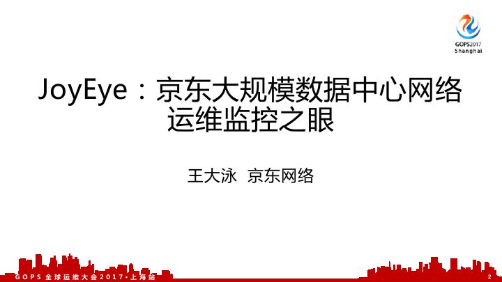 王大泳-京东大规模数据中心网络运维监控之眼