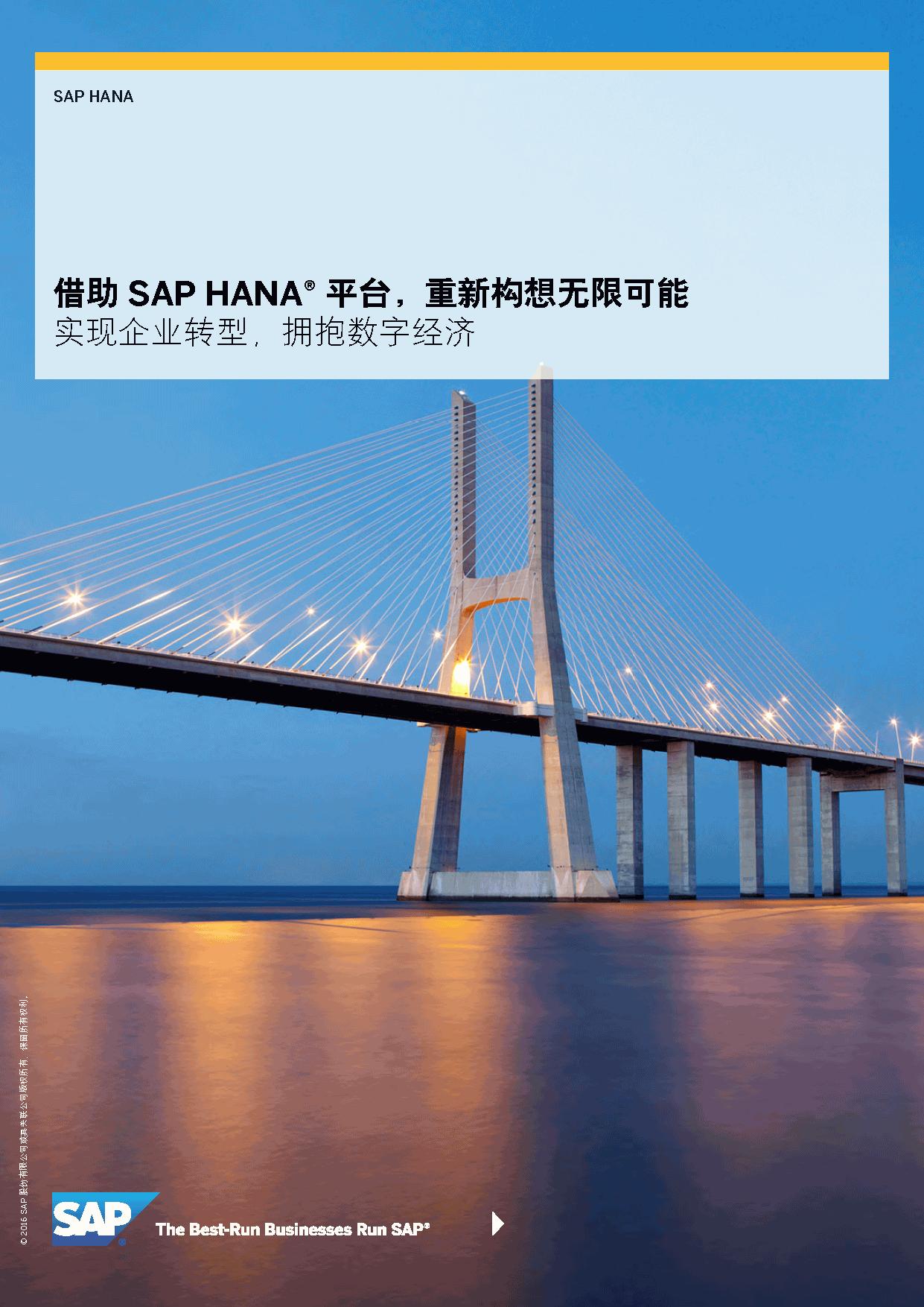 SAP-借助 SAP HANA? 平台,重新构想无限可能