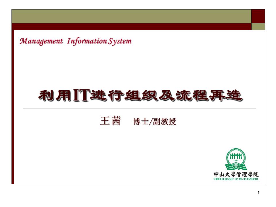 王茜-IT与企业业务流程