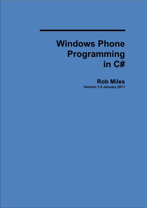 -使用C#来实现WindowsPhone的编程