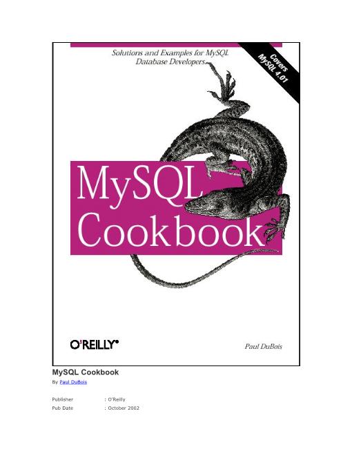 -MySQL Cookbook