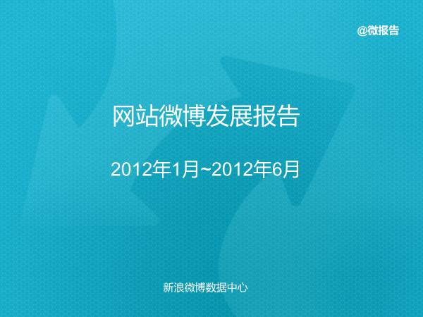 -2012年上半年网站微博发展报告