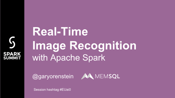 Garyorenstein-Real Time Image Recognition with Apache Spark