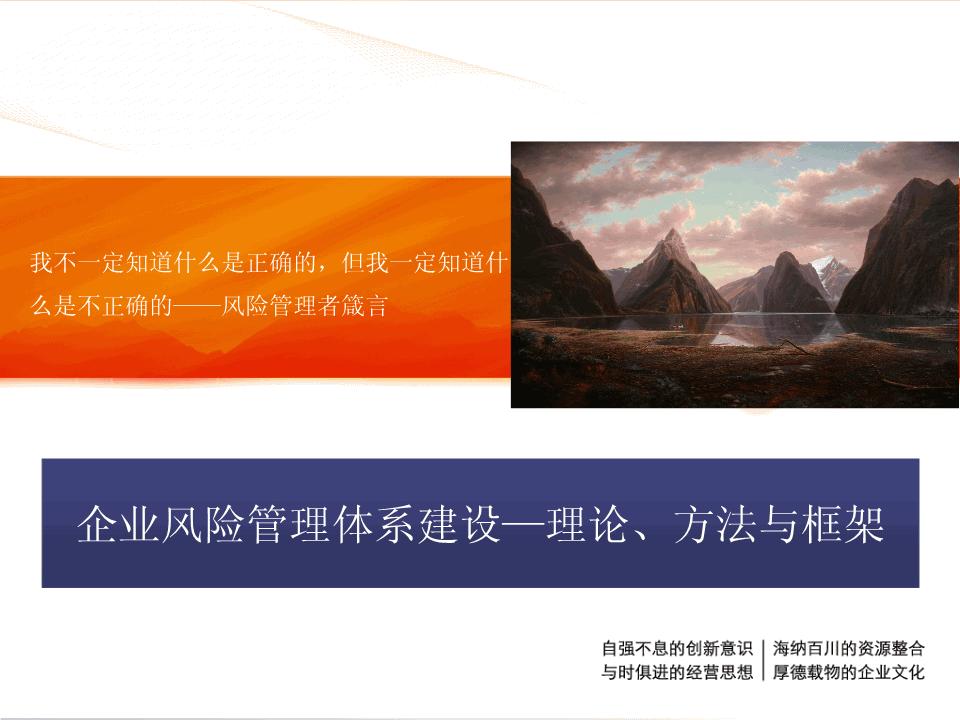 张安-企业风险管理体系建设
