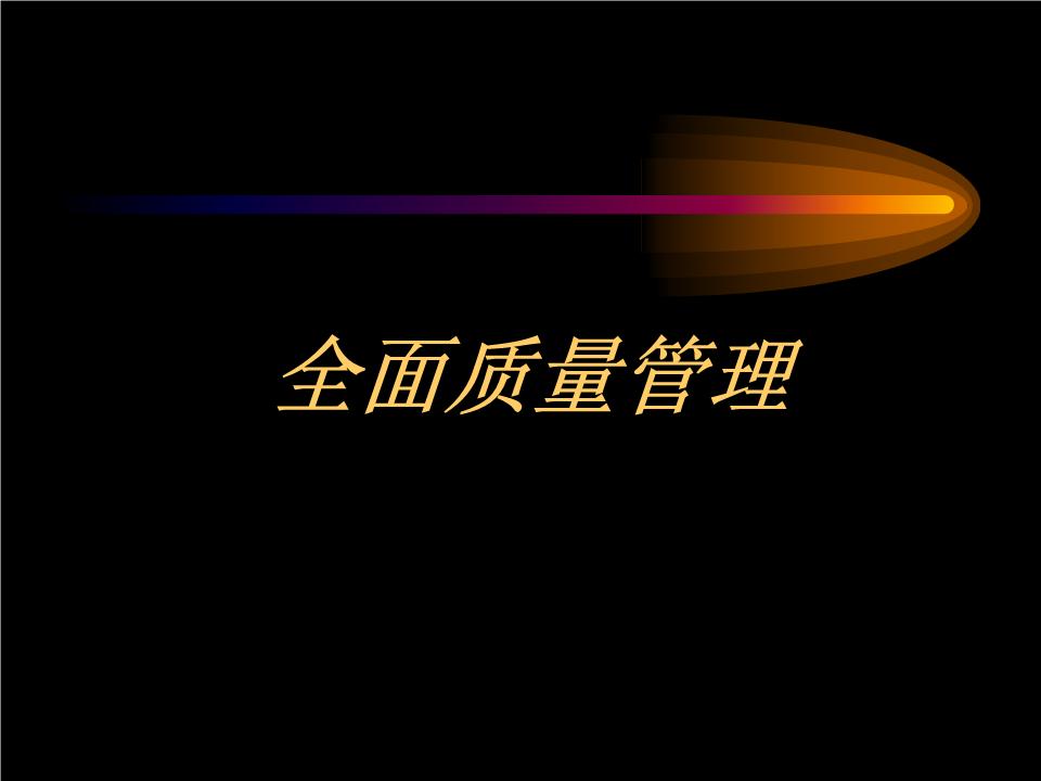 王智鹏-全面质量管理