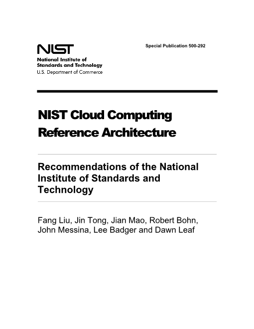 NIST-The NIST Definition of Cloud Computing Reference Architecture 500 292