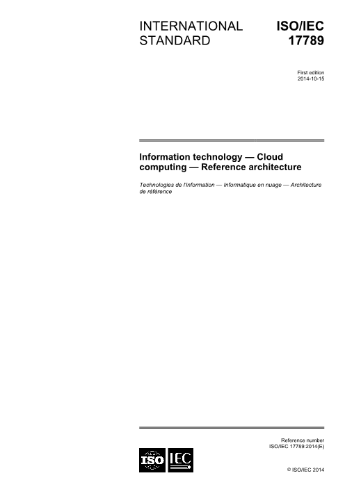 -ISOIEC17789 Cloud Computing Reference architecture