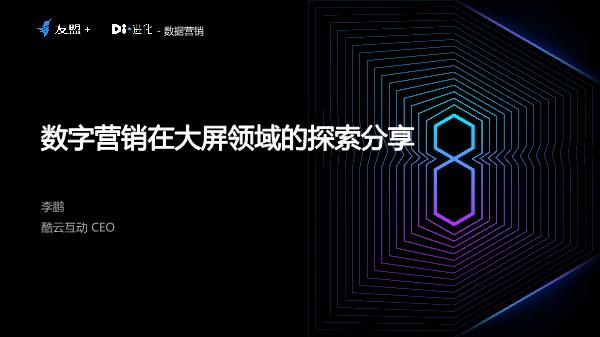 李鹏-数字营销在大屏领域的探索