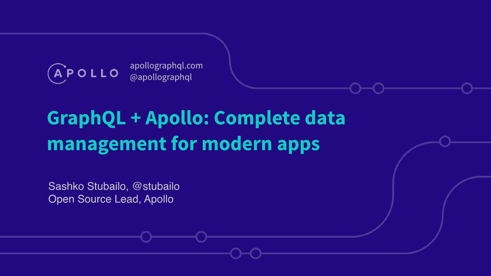 -GraphQL + Apollo Complete data management for modern apps