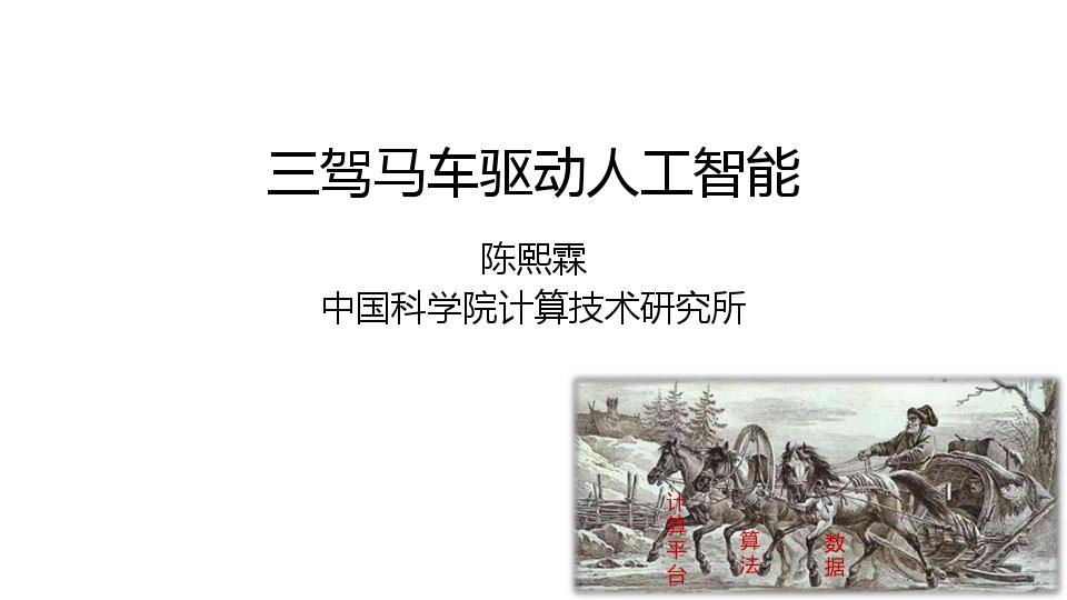 陈熙霖-三驾马车驱动人工智能
