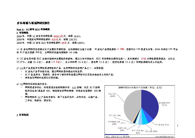 -京东商城与新蛋研究报告