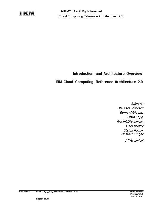-IBM云计算参考架构