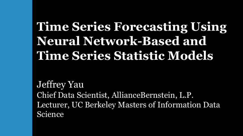 jeffrey yau-time series forecasting using recurrent neural network and vector autoregressive model when and how