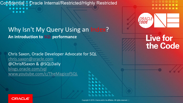 -Why is my SQL not using an index