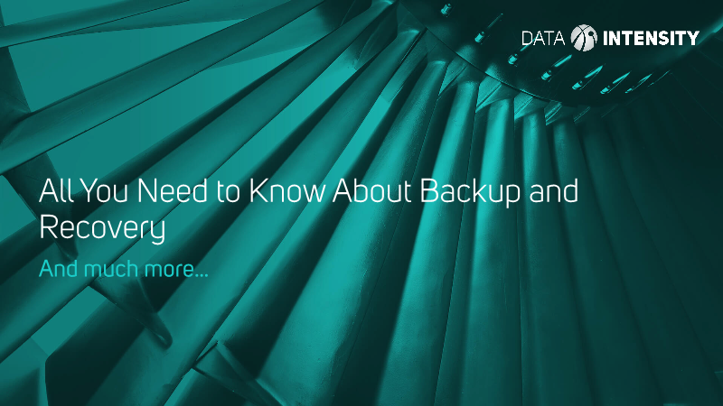 -All You Need to Know About Backup and Recovery