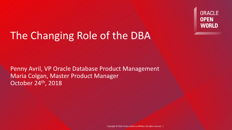 -The Changing Role of the DBA