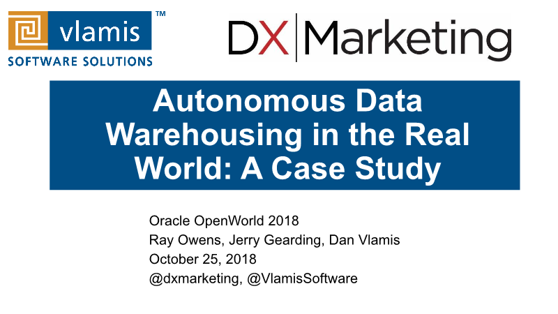 -Autonomous Data Warehousing in the real world a case study