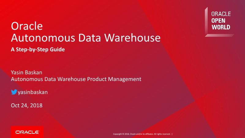 -Oracle Autonomous Data Warehouse