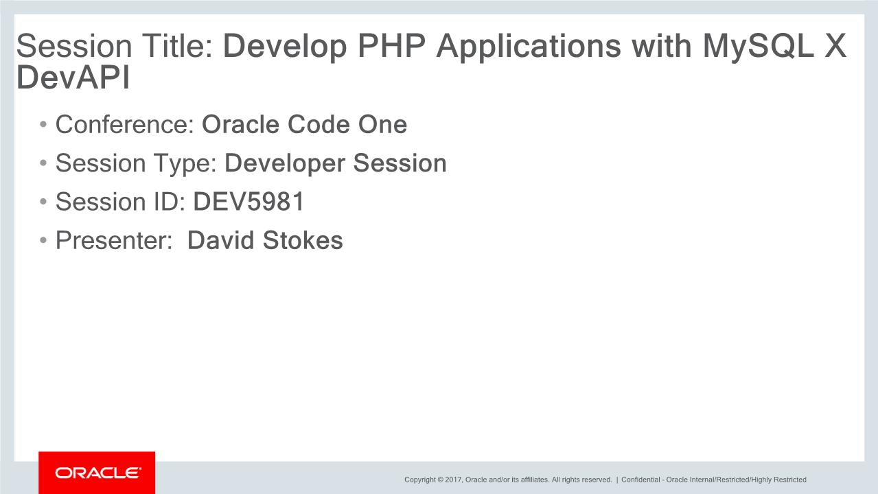 David Stokes-Develop PHP Applications with MySQL X DevAPI