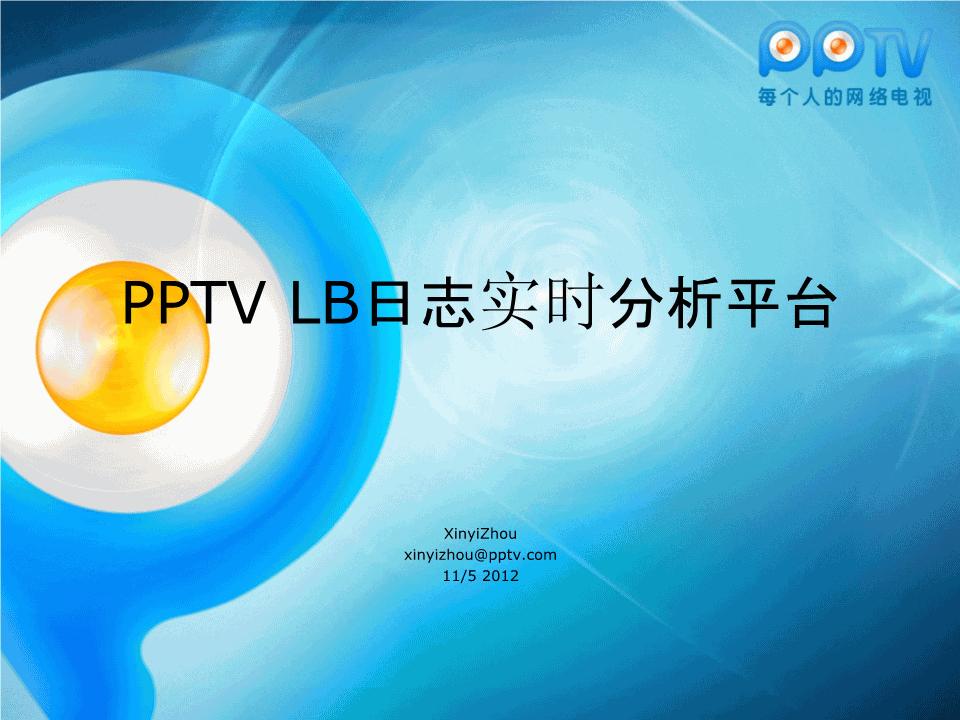 -PPTV LB日志实时分析平台