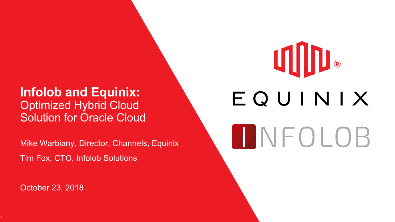 -Infolob and Equinix Optimized Hybrid Cloud Solution for Oracle Cloud