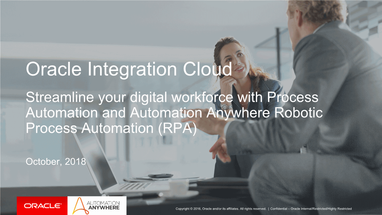-Oracle Process Automation and Automation Anywhere