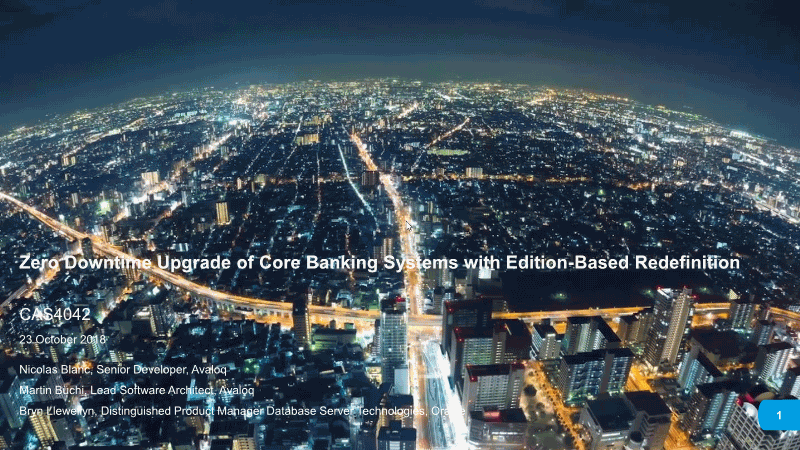 Nicolas-Zero Downtime Upgrade Of Core Banking Systems With Edition Based Redefinition