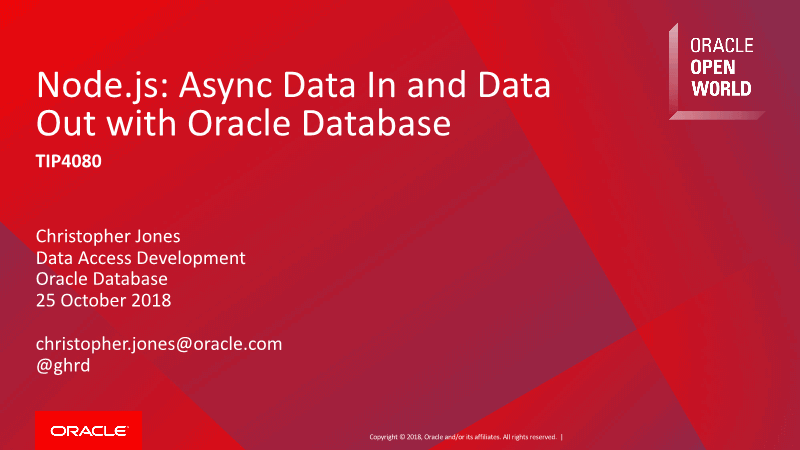 -Node.js Async Data In and Data Out with Oracle Database