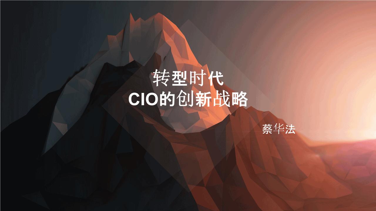 蔡华法-转型时代CIO的创新战略