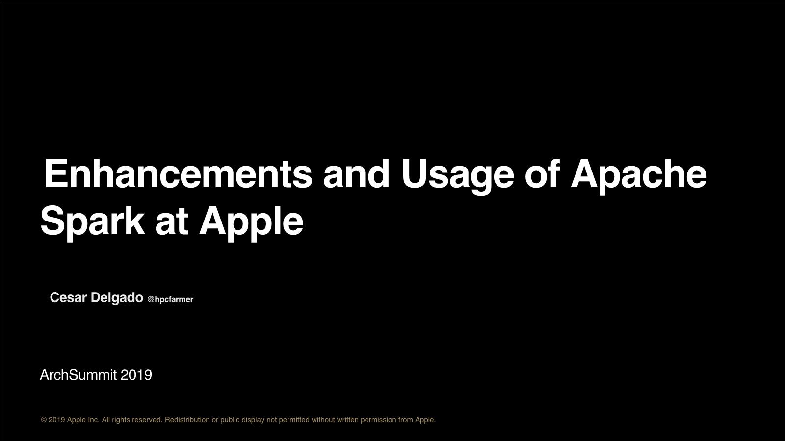 Cesar-Apple Siri @ Spark, FoundationDB, Hadoop and HBase