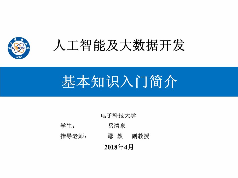 岳清泉-人工智能与大数据开发入门