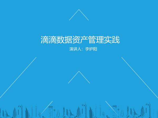 李炉阳-滴滴数据资产管理实践