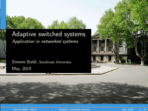 Simone Baldi-Adaptive switched systems with application in networked systems