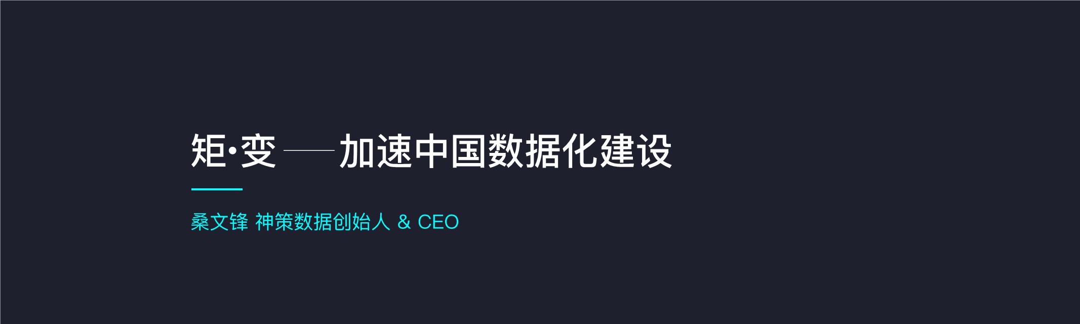 桑文君-矩变加速中国数据化建设