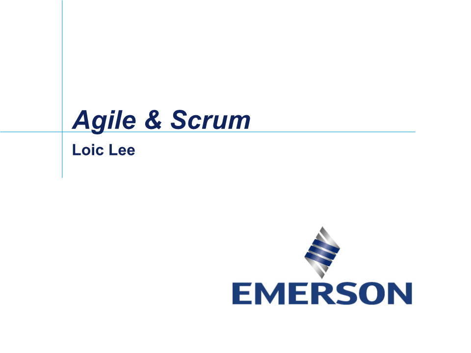 Loic Lee-Agile 敏捷开发与Scrum流程